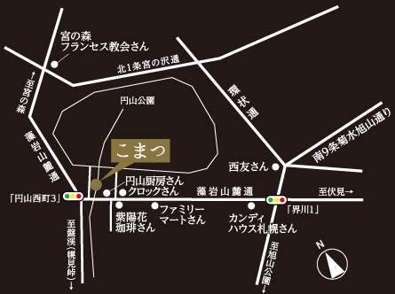 日本料理こまつ地図